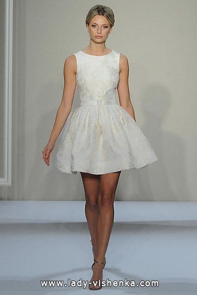 Весільне плаття коротке 2016 - Dennis Basso