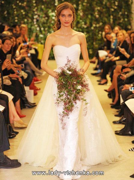 Просте біле весільне плаття - Carolina Herrera