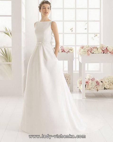 Просте біле весільне плаття - Aire Barcelona