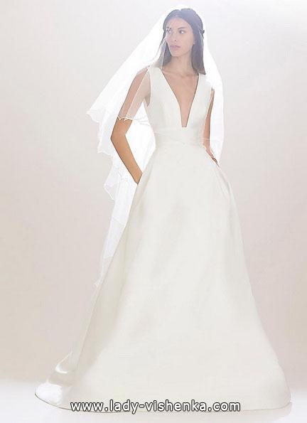 Просте весільну сукню 2016 - Carolina Herrera