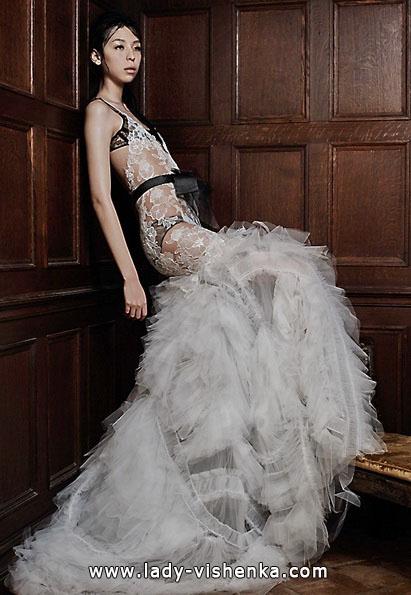 Прозорі весільні сукні фото - Vera Wang
