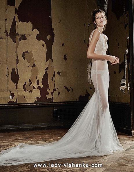 Прозоре весільну сукню зі шлейфом - Vera Wang