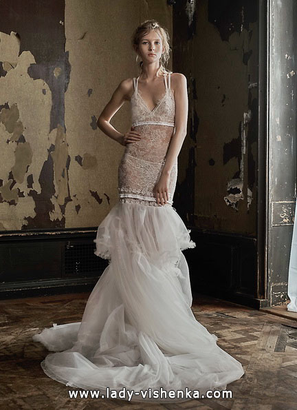 Прозоре мереживна весільна сукня Vera Wang