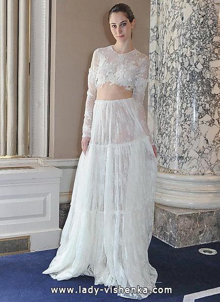 Прозорі весільні сукні фото - Christos Costarellos