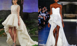 Свадебное платье короткое спереди, сзади длинное 2016