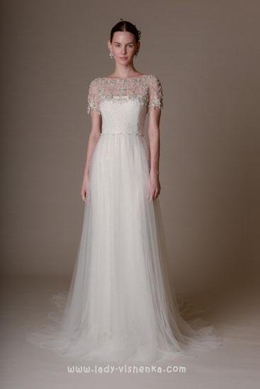 Просте весільне плаття Marchesa
