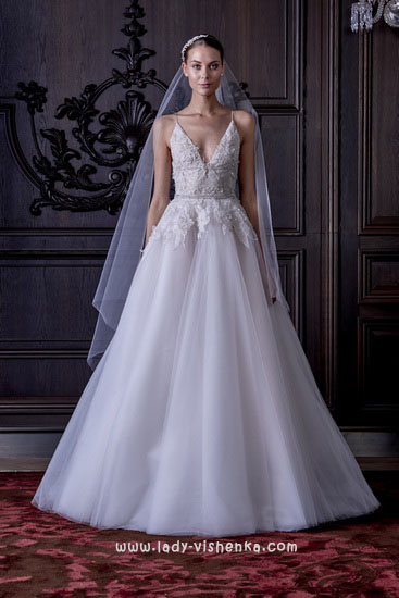 Просте весільну сукню Монік Люлье