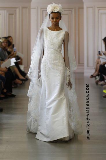 Весільні сукні з рукавами фото Oscar De La Renta