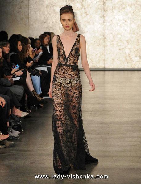 Чорне прозорачное весільну сукню - Inbal Dror