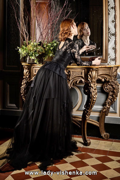 Чорне весільне плаття 2016 - Jordi Dalmau