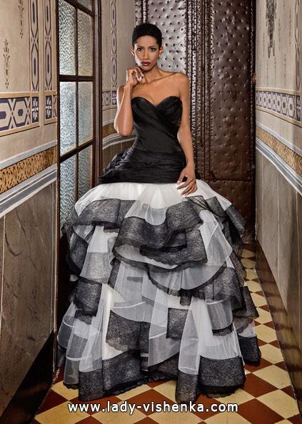 Чорно-біле весільне плаття - Jordi Dalmau