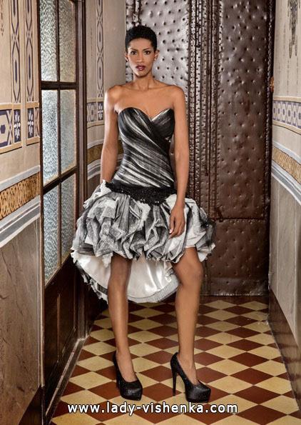 Короткий чорно-біле весільне плаття 2016 - Jordi Dalmau