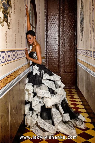 Чорно-біле весільне плаття фото - Jordi Dalmau