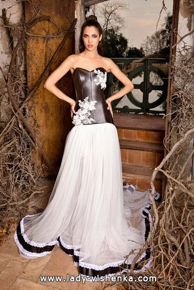 Чорно-біле весільне плаття 2016 - Jordi Dalmau