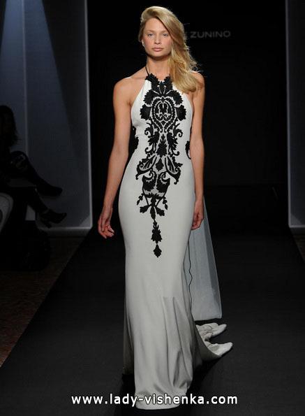 Весільну сукню з чорним мереживом 2016 - Mark Zunino