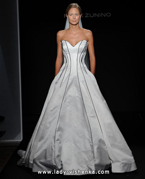 Чорно-біле весільне плаття фото - Mark Zunino