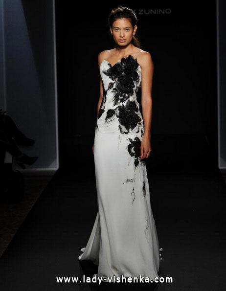 Чорно-біле весільне плаття 2016 - Mark Zunino
