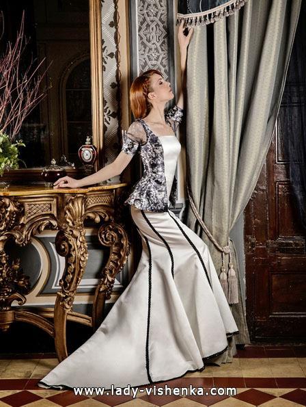 Весільну сукню з чорними елементами - Jordi Dalmau