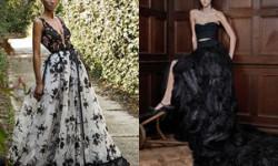 Чорне і чорно-біле весільне плаття 2016