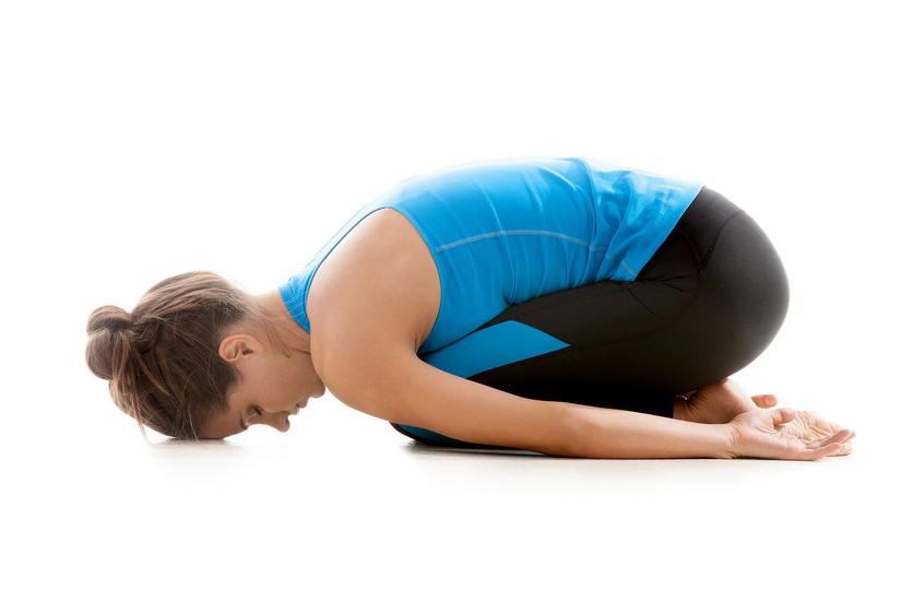 Поза дитини - вправи йоги