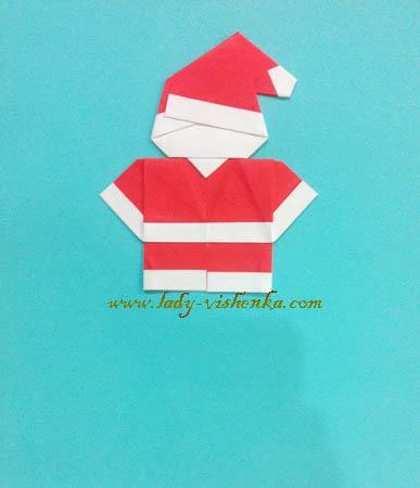 Дід Мороз з паперу