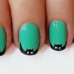 Дизайн нігтів на Хеллоуїн — кажан