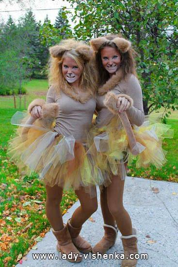 Костюм рудої кішки на Хеллоуїн для дівчат