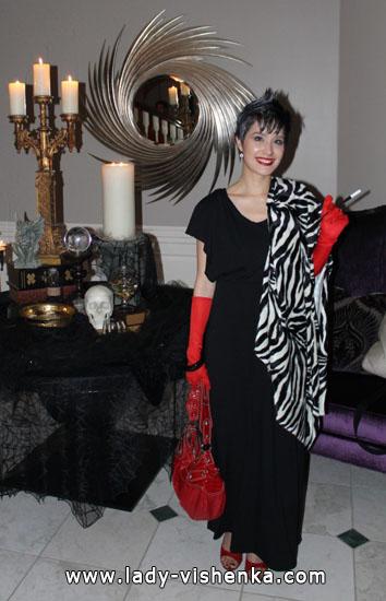 Сукня Круелли на Хеллоуїн - фото