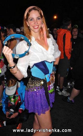 Короткий костюм Есмеральди на Хеллоуїн