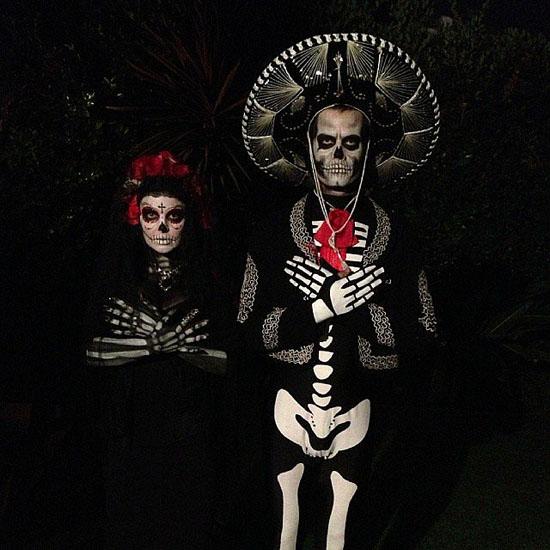 Знаменитості у костюми на Хеллоуїн - скелети