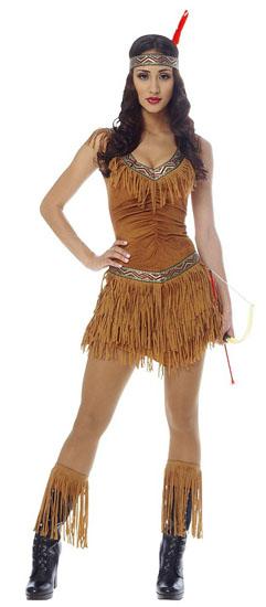 Образ Покахонтас на Хеллоуїн - фото