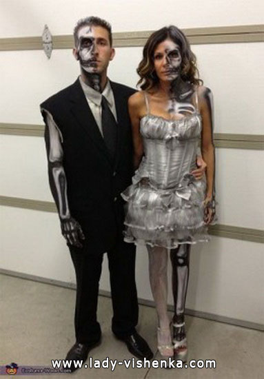 Скелети - костюми для пари на Хеллоуїн
