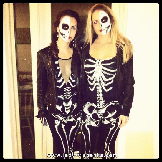Одяг на Хеллоуїн - Костюм Скелета для дівчат