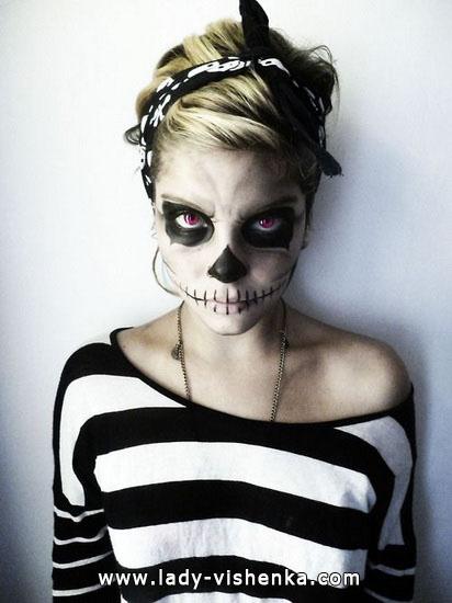 Скелет на Хелловін своїми руками