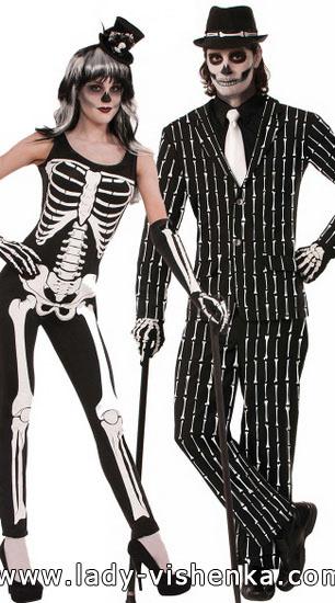 Костюм скелета для хлопця і дівчини