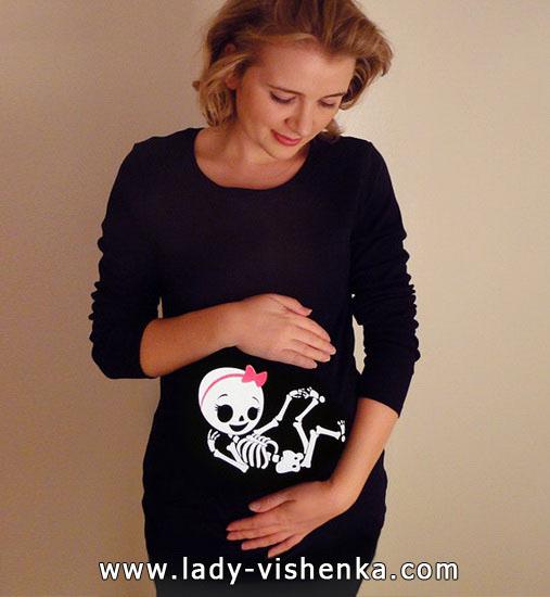 Костюм скелета на Хеллоуїн для вагітної