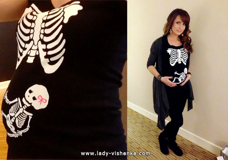 Наряд Скелета на Хеллоуїн для вагітної
