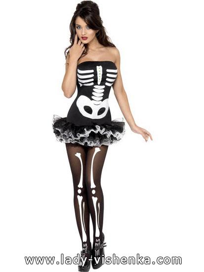Сукні на Хеллоуїн - наряд скелета