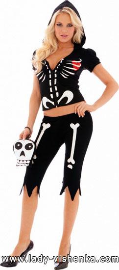 Костюм Скелета на Хеллоуїн для дівчини - фото