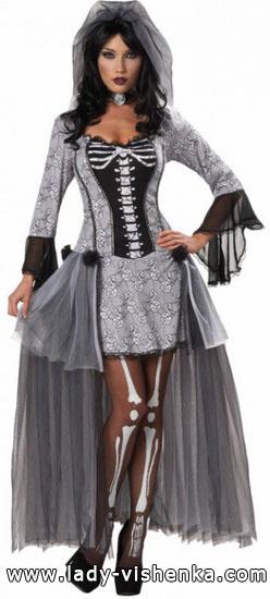 красиві сукні на Хеллоуїн - Скелет
