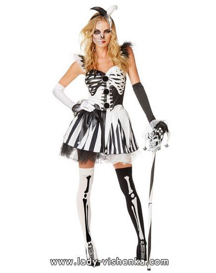 Хеллоуїн фото, дівчата - костюм Скелета