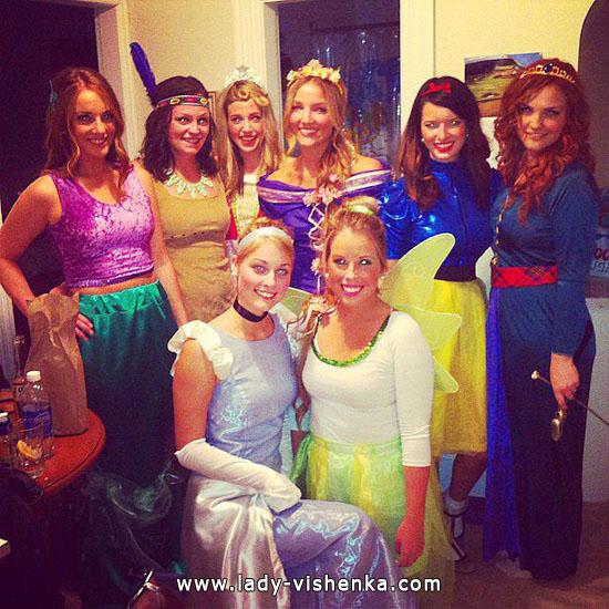 Ідеї костюми на Хеллоуїн для дівчат - Диснеївська принцеса