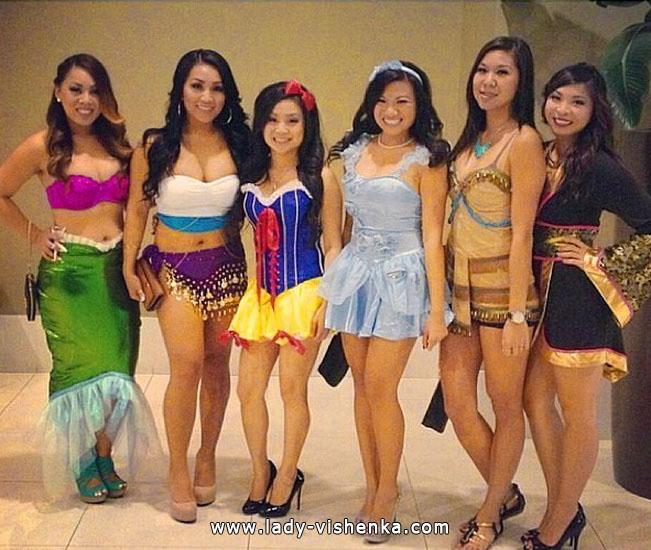 Сукні на Хеллоуїн - Діснеївські принцеси