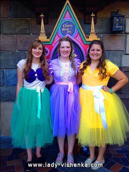 Сукні на Хелловін своїми руками - Діснеївські принцеси