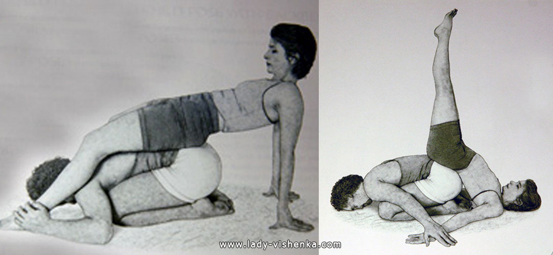 Йога для двох - Стійка на плечах з підтримкою