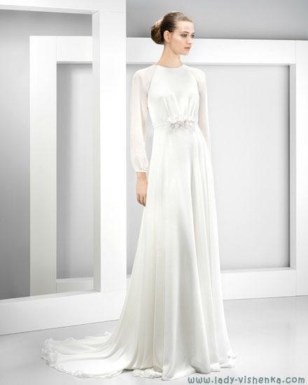 Закриті весільні сукні фото Jesus Peiro