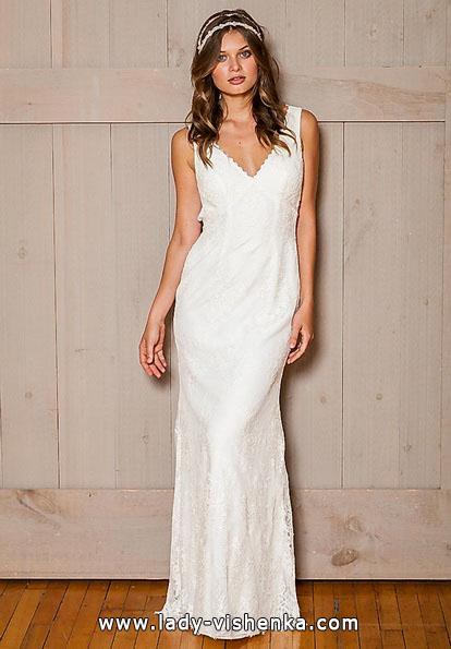 Пряме мереживне весільне плаття - david's Bridal