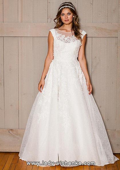 Довга мереживна весільна сукня 2016 - david's Bridal