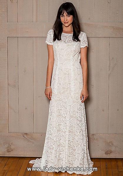 Пряме мереживне весільне плаття 2016 - david's Bridal