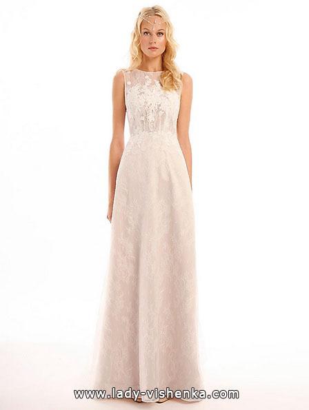 Пряме мереживне весільне плаття - Eugenia Couture